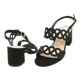 Sandalias negras con circonita cúbica Filippo DS1355 / 20 BK negro 3