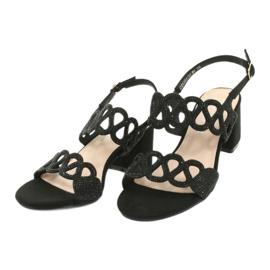 Sandalias negras con circonita cúbica Filippo DS1355 / 20 BK negro 2