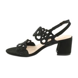 Sandalias negras con circonita cúbica Filippo DS1355 / 20 BK negro 1