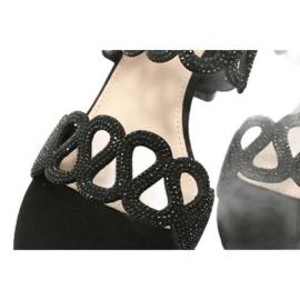 Sandalias negras con circonita cúbica Filippo DS1355 / 20 BK negro 5