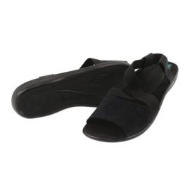 Cómodas sandalias de mujer negras Adanex 17498 negro 2
