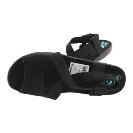 Cómodas sandalias de mujer negras Adanex 17498 negro 3