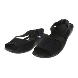 Cómodas sandalias de mujer negras Adanex 17498 negro 1