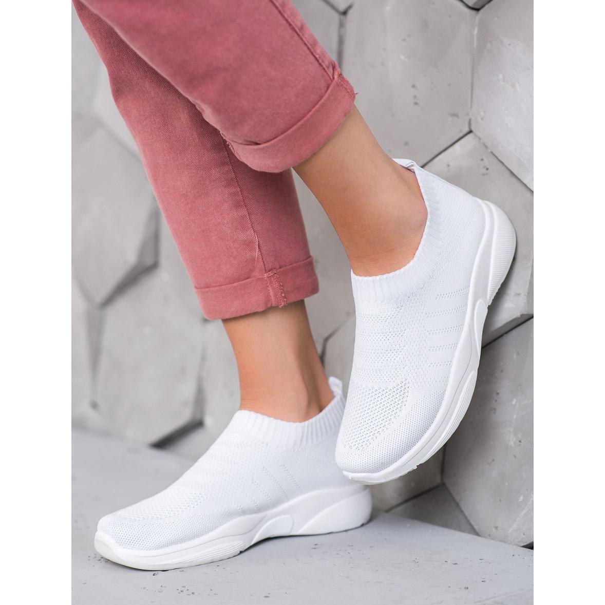Sweet-Shoes-Zapatillas-de-plataforma-comodas-blanco miniatura 3