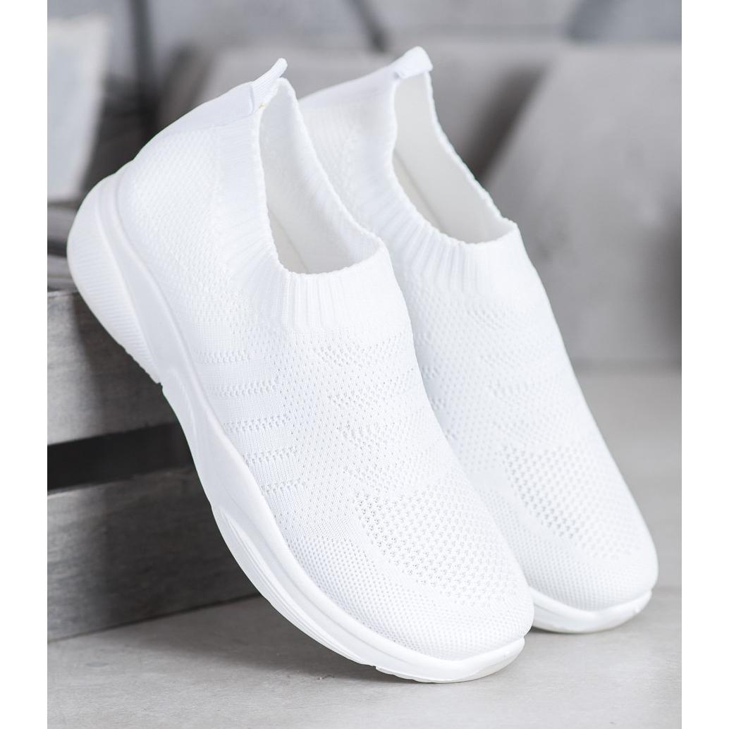 Sweet-Shoes-Zapatillas-de-plataforma-comodas-blanco miniatura 4