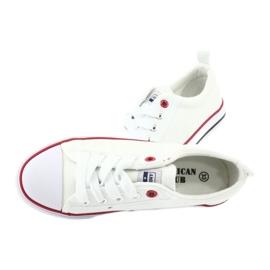 American Club Zapatillas American LH25 anudadas blancas blanco 5
