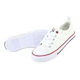 American Club Zapatillas American LH25 anudadas blancas blanco 4