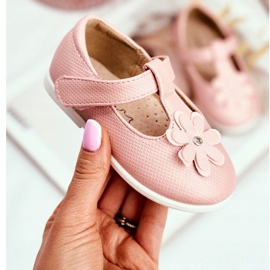 Apawwa Bailarinas Bebé con Velcro Flor Rosa Antrela 2