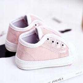 Apawwa Zapatillas de velcro para bebé con brillo bautizo rosa Milley 4