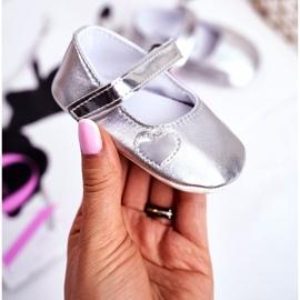 Apawwa Bautismo Baby Velcro Zapatillas de deporte Bellawa Silver gris 1