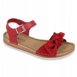 Zapatillas de mujer Comfort Inblu 158D117 rojo 1