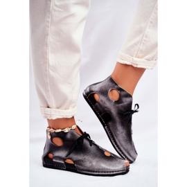 Zapatos de mujer Maciejka Popiel 03426-03 gris 4