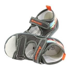 American Club Sandalias americanas zapatos para niños plantilla de cuero TEN46 4
