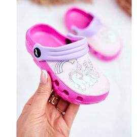 Zapatillas de niños Crocs de espuma Ponis rosas Poni 2