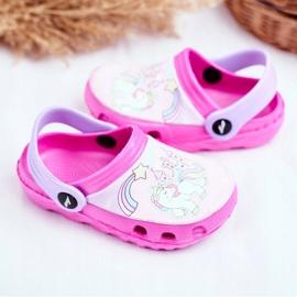 Zapatillas de niños Crocs de espuma Ponis rosas Poni 3