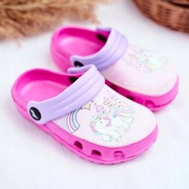 Zapatillas de niños Crocs de espuma Ponis rosas Poni 1