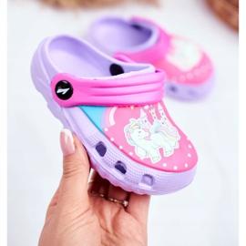 Zapatillas de niños Crocs de espuma Ponis violetas Poni púrpura 2