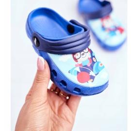 Zapatillas de niños Crocs de espuma Blue Bear Pilot SuperFly azul 3