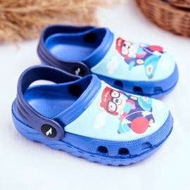 Zapatillas de niños Crocs de espuma Blue Bear Pilot SuperFly azul 2