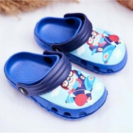 Zapatillas de niños Crocs de espuma Blue Bear Pilot SuperFly azul 1