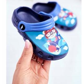 Zapatillas de niños Crocs de espuma Azul marino Osito de peluche Piloto SuperFly 2