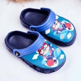 Zapatillas de niños Crocs de espuma Azul marino Osito de peluche Piloto SuperFly 1
