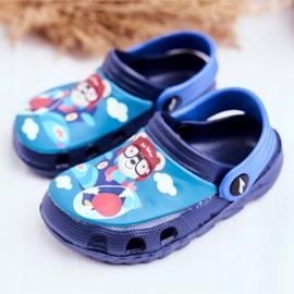 Zapatillas de niños Crocs de espuma Azul marino Osito de peluche Piloto SuperFly 3