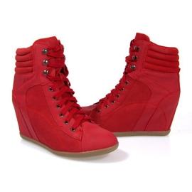 Sneakers Botas En Cuña 562 Rojo 1