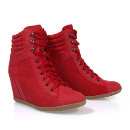 Sneakers Botas En Cuña 562 Rojo 2