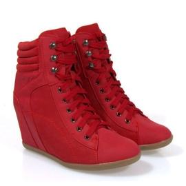 Sneakers Botas En Cuña 562 Rojo 3