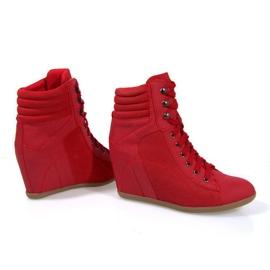 Sneakers Botas En Cuña 562 Rojo 4