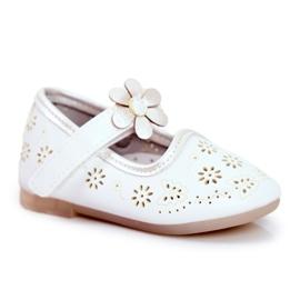 Apawwa Mocasines Infantiles Velcro Flor Blanco Floreado 5