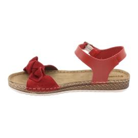 Zapatillas de mujer Comfort Inblu 158D117 rojo 2