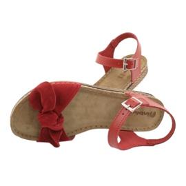 Zapatillas de mujer Comfort Inblu 158D117 rojo 5