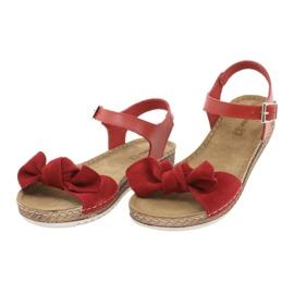 Zapatillas de mujer Comfort Inblu 158D117 rojo 3