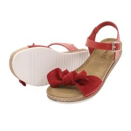 Zapatillas de mujer Comfort Inblu 158D117 rojo 4