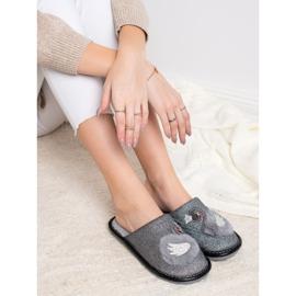 Bona Zapatillas elegantes con aplicación gris 2