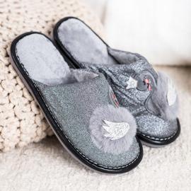 Bona Zapatillas elegantes con aplicación gris 4
