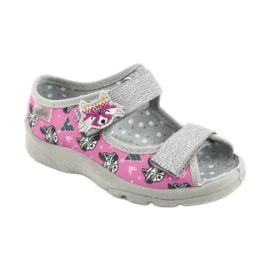 Calzado infantil befado 969X162 rosa plata 1