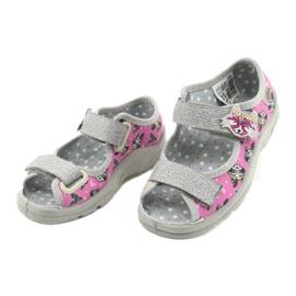 Calzado infantil befado 969X162 rosa plata 3