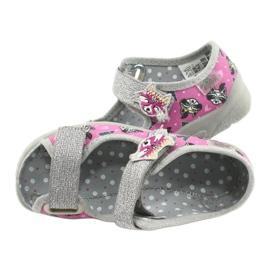 Calzado infantil befado 969X162 rosa plata 5