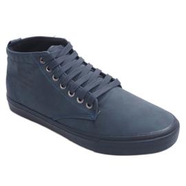Zapatillas altas con estilo Y007 Azul marino marina 1