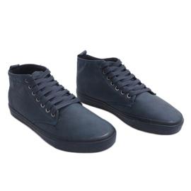 Zapatillas altas con estilo Y007 Azul marino marina 2
