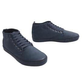 Zapatillas altas con estilo Y007 Azul marino marina 3