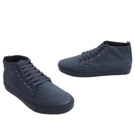 Zapatillas altas con estilo Y007 Azul marino marina 4