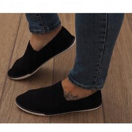 Zapatos deportivos negros sin cordones Lycra D16M 2