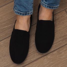 Zapatos deportivos negros sin cordones Lycra D16M 4