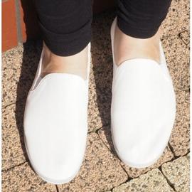 Lycra BL181-2 Zapatillas blancas sin cordones blanco 1