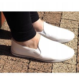 Lycra BL181-2 Zapatillas blancas sin cordones blanco 2