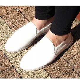 Lycra BL181-2 Zapatillas blancas sin cordones blanco 3